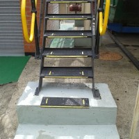 Galvanized tread installation 1